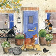 Friendly Felines Cat Greetings Card