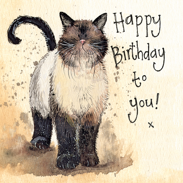 Coco Cat Birthday Card