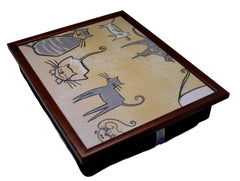 Cream Cat Design Lap Tray