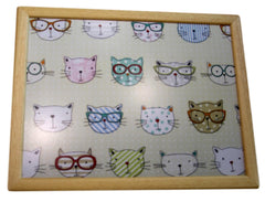 Hipster Cat Design Lap Tray