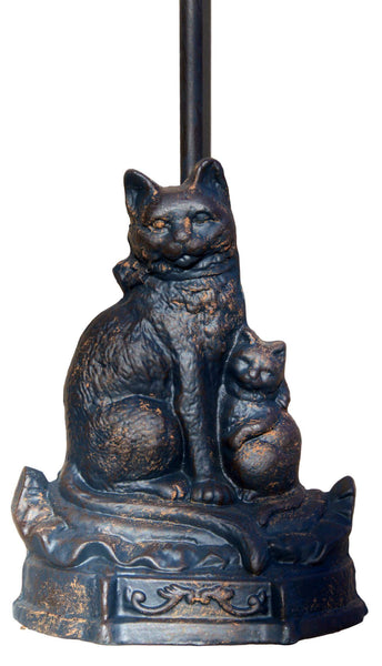Cat and Kitten Cast Iron Door Stop with Handle