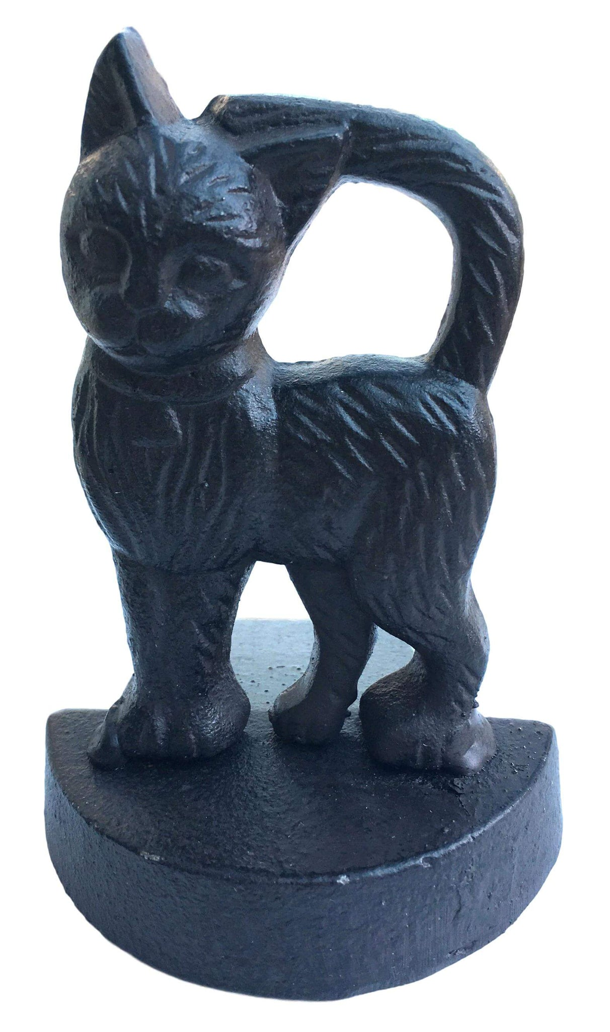 Cat Figure Cast Iron Door Stop Wedge