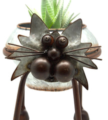 Nodding Head and Tail Cat Plant Holder