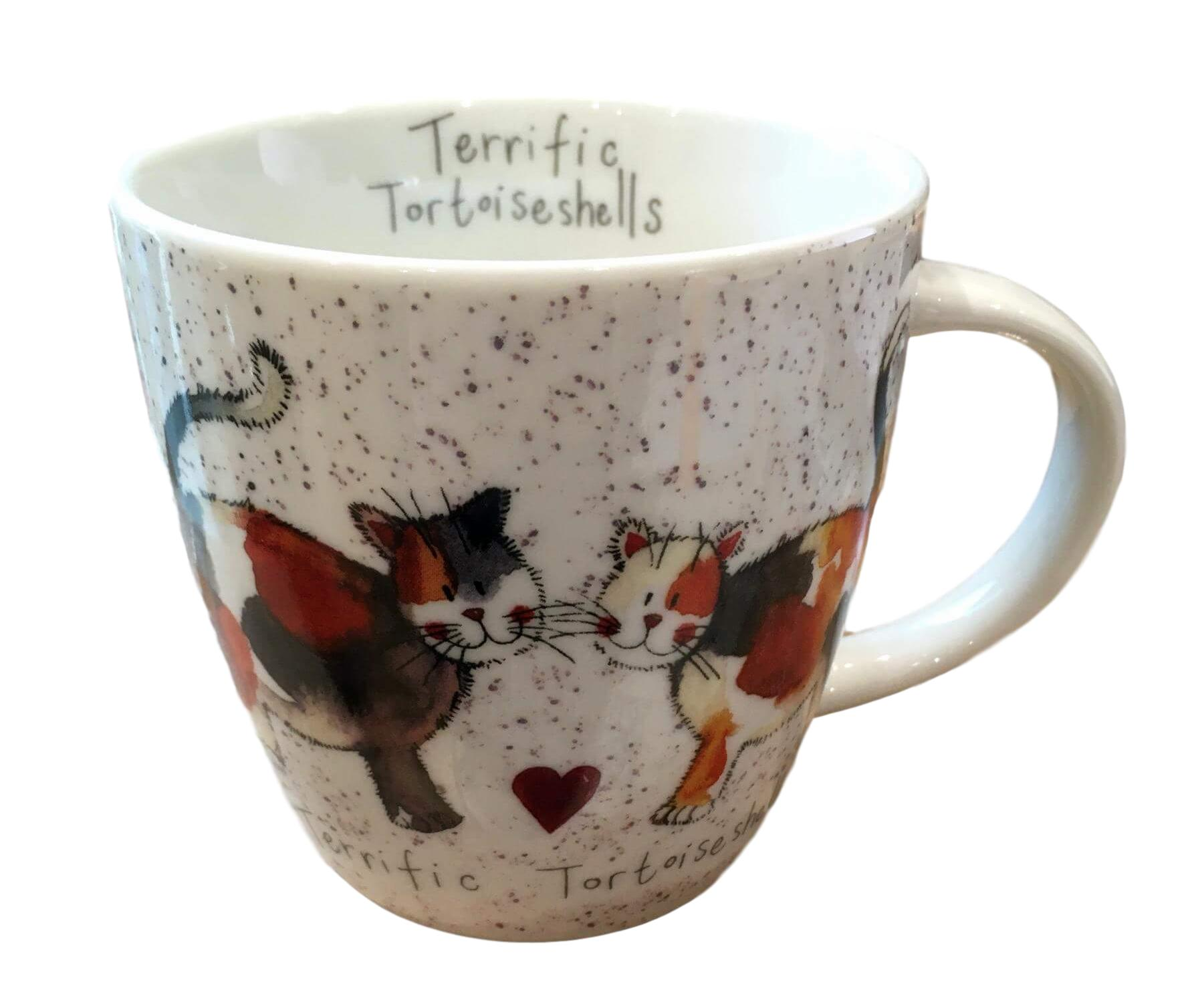 Terrific Tortoiseshells Cat Mug by Alex Clark