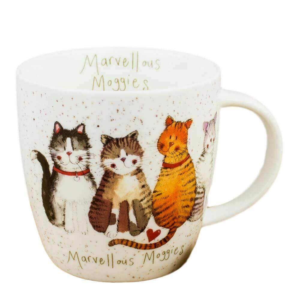 Marvellous Moggies Cat Mug by Alex Clark