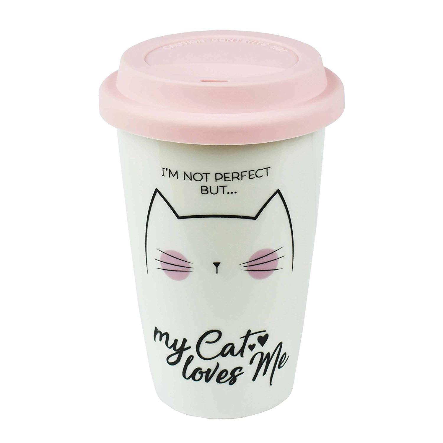 I May Not be Perfect But My Cat Loves Me Travel Mug