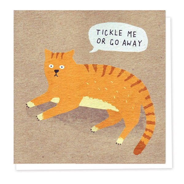 'Angry Cat' Cat Greeting Card