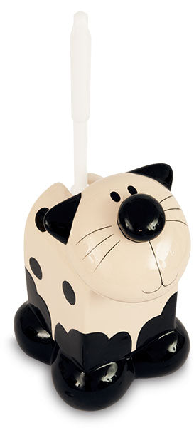 Cat Ceramic Toilet Brush Holder