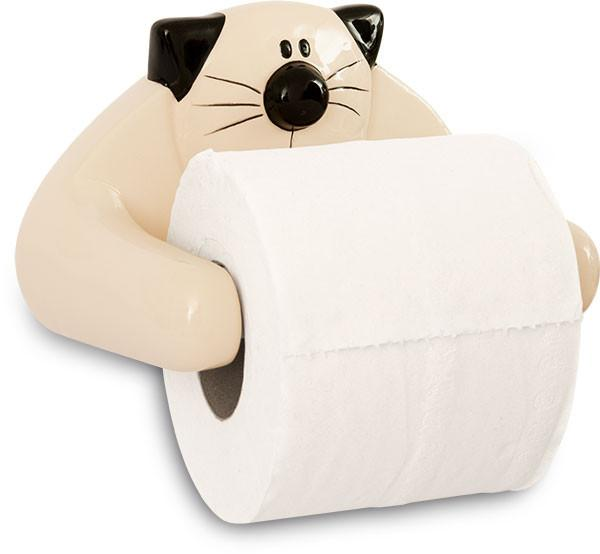 Cat Ceramic Toilet Roll Holder