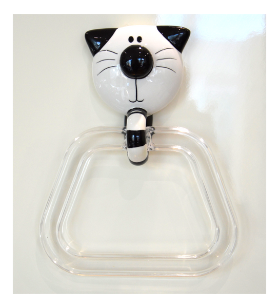 Cat Ceramic Towel Ring