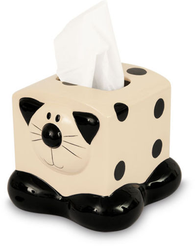 Cat Ceramic Tissue Dispenser