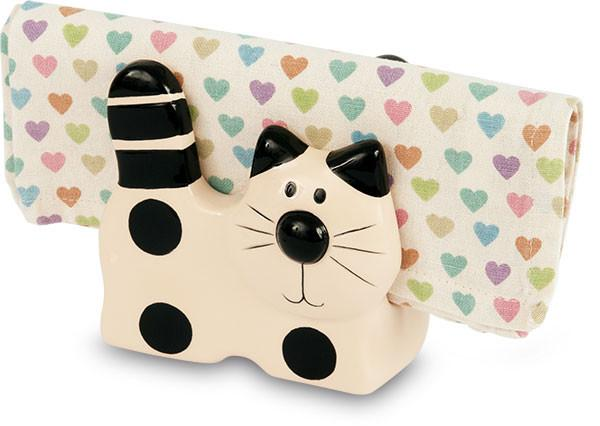 Cat Ceramic Napkin / Letter Holder