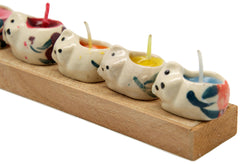 Set of 5 Mini Scented Cat Candles