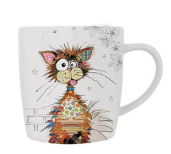 Kooks Ziggy Cat Fine China Mug with Gift Box