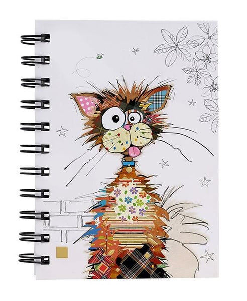 Kooks Ziggy Cat A6 Gold Foil Hardback Notebook
