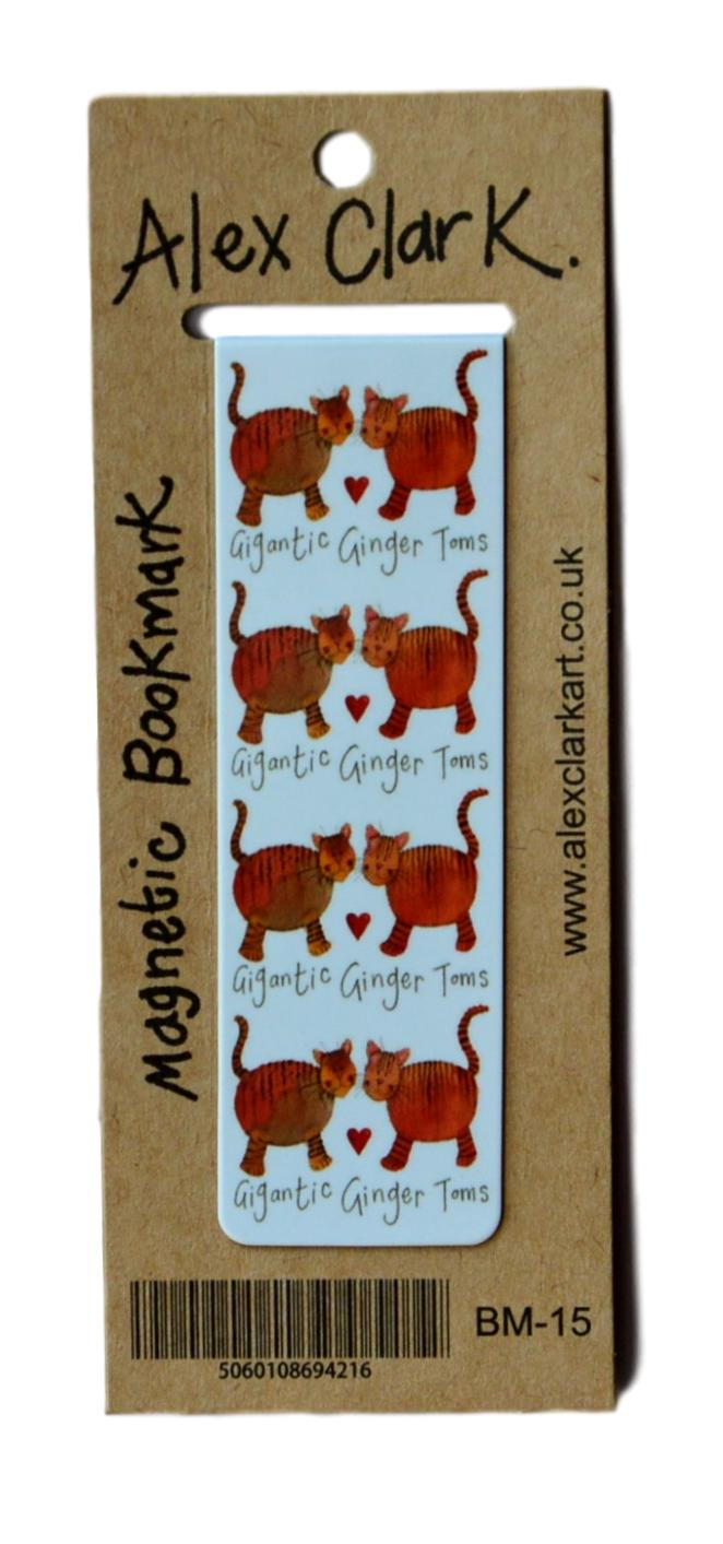 Gigantic Ginger Toms Cat Magnetic Bookmark