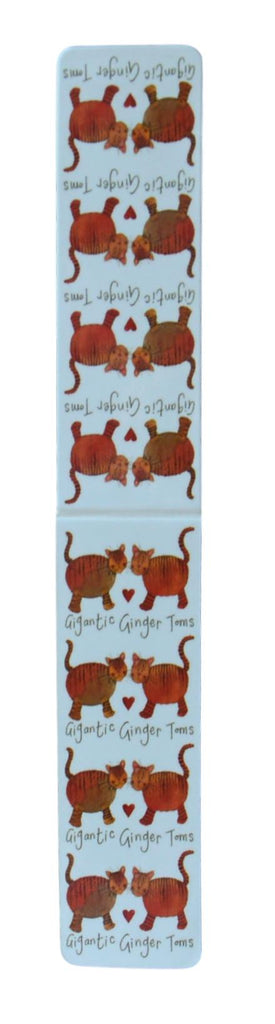 Gigantic Ginger Toms Cat Bookmark