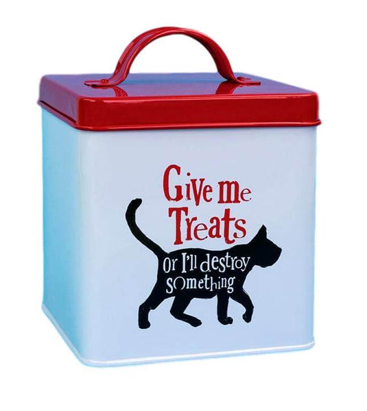 Give Me Treats Metal Treat Tin
