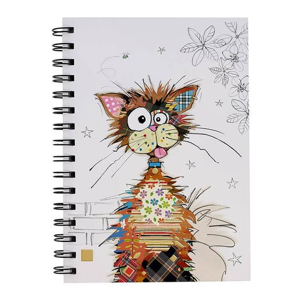 Kooks Ziggy Cat A5 Gold Foil Hardback Notebook