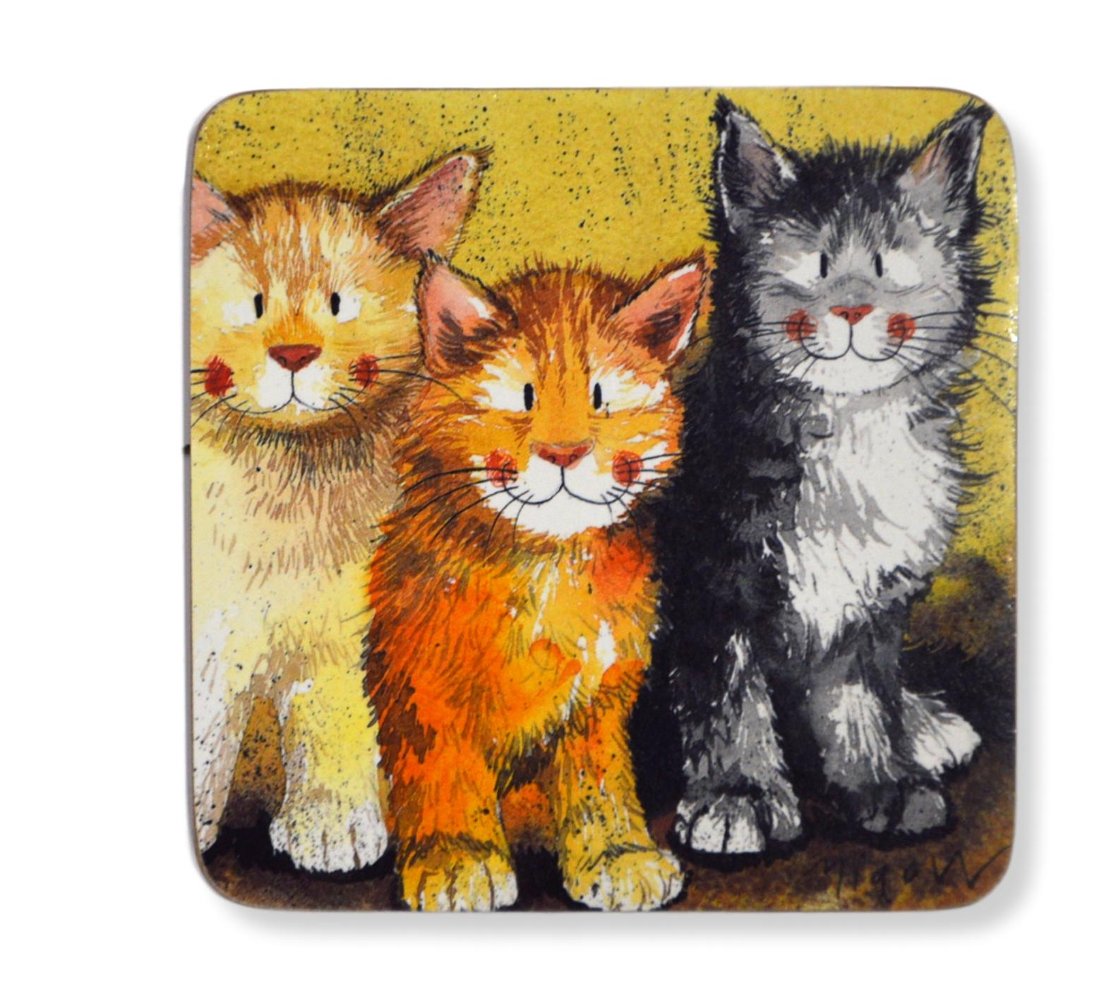 Set of 2 Rodger Dodger Cat Coasters