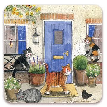 Set of 2 Cats Chorus Coasters