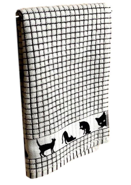 Black Cat Poli-Dri Jacquard Tea Towel
