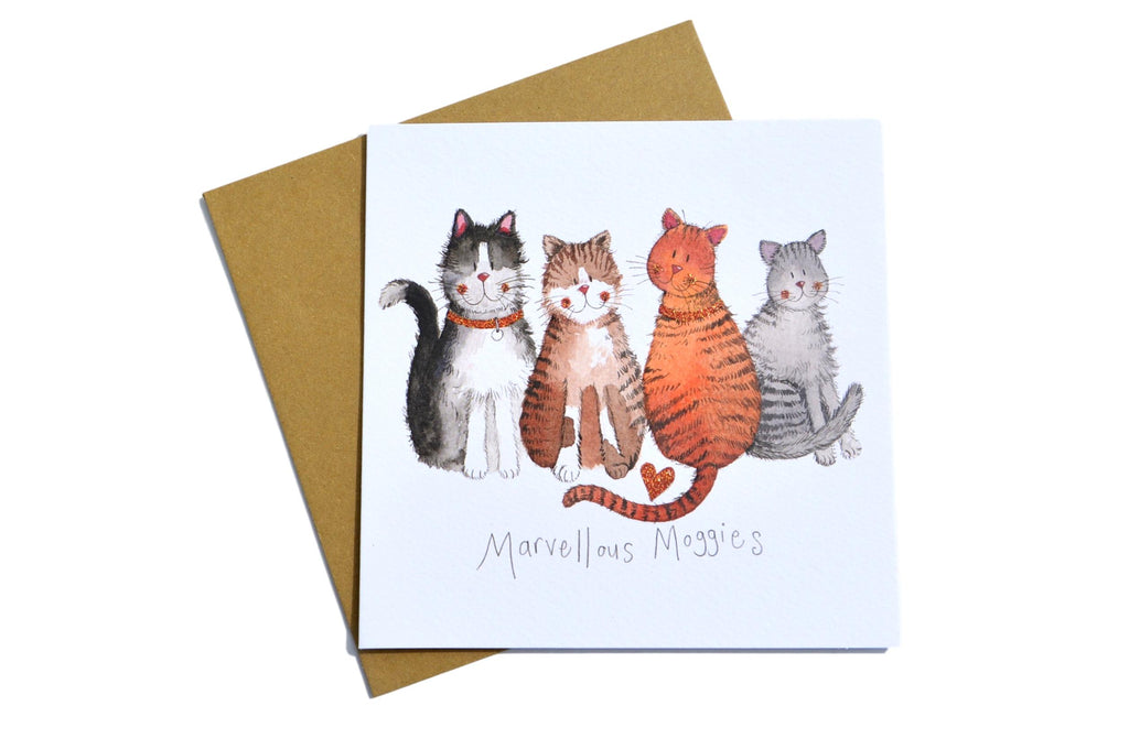 Marvellous Moggies Cat Greeting Card