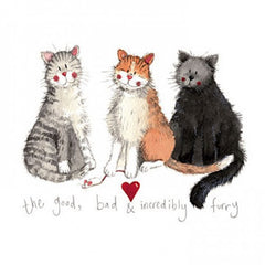 The Good, Bad & Incredibly Furry Greeting Card