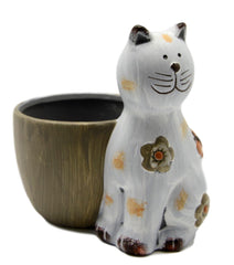 Small Ceramic Cat Planter