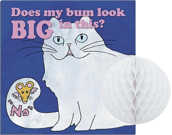 'Does My Bum Look Big in This?' Cat Greeting Card