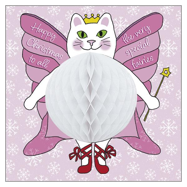 Christmas Fairy Cat Greeting Card