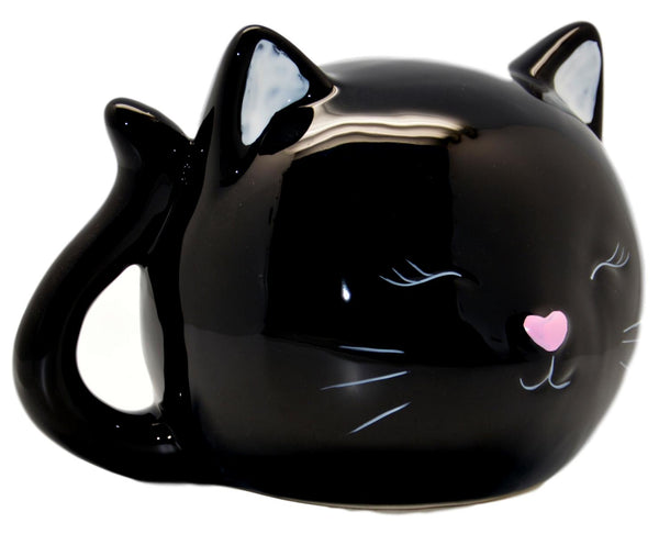 Ceramic Black Cat Money Box