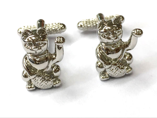 Lucky Cat Cufflinks