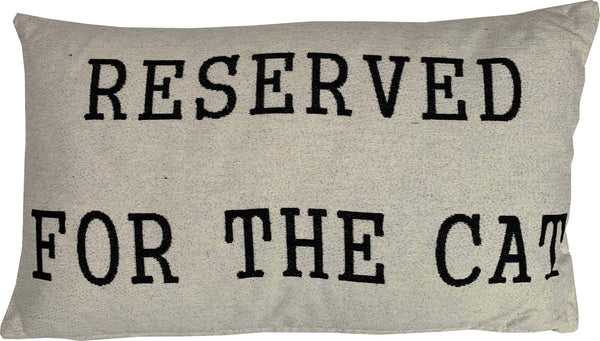 Reserved for the Cat Rectangle Cushion