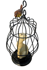 Cat in Birdcage Ornament