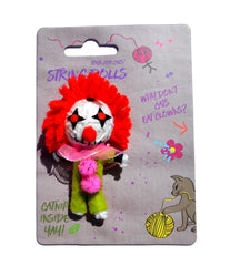 Augustus the Clown String Doll Catnip Toy
