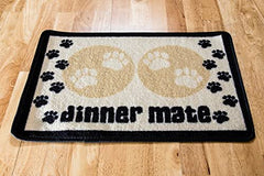 Dinner Mate Cream Paws Feeding Mat