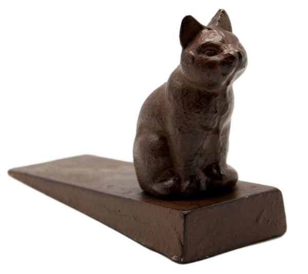 Cat Figure Cast Iron Door Stop