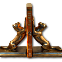 Bronze Book End Cats