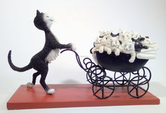 Dubout - The Pram Cat Figurine
