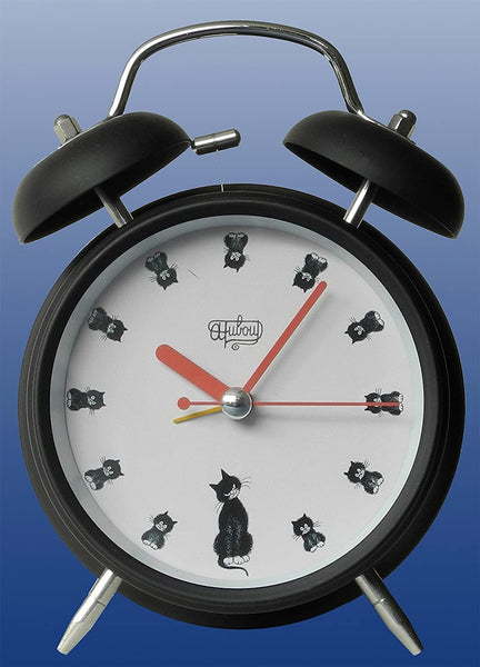 Dubout Cats - Black Cats in a Row Alarm Clock