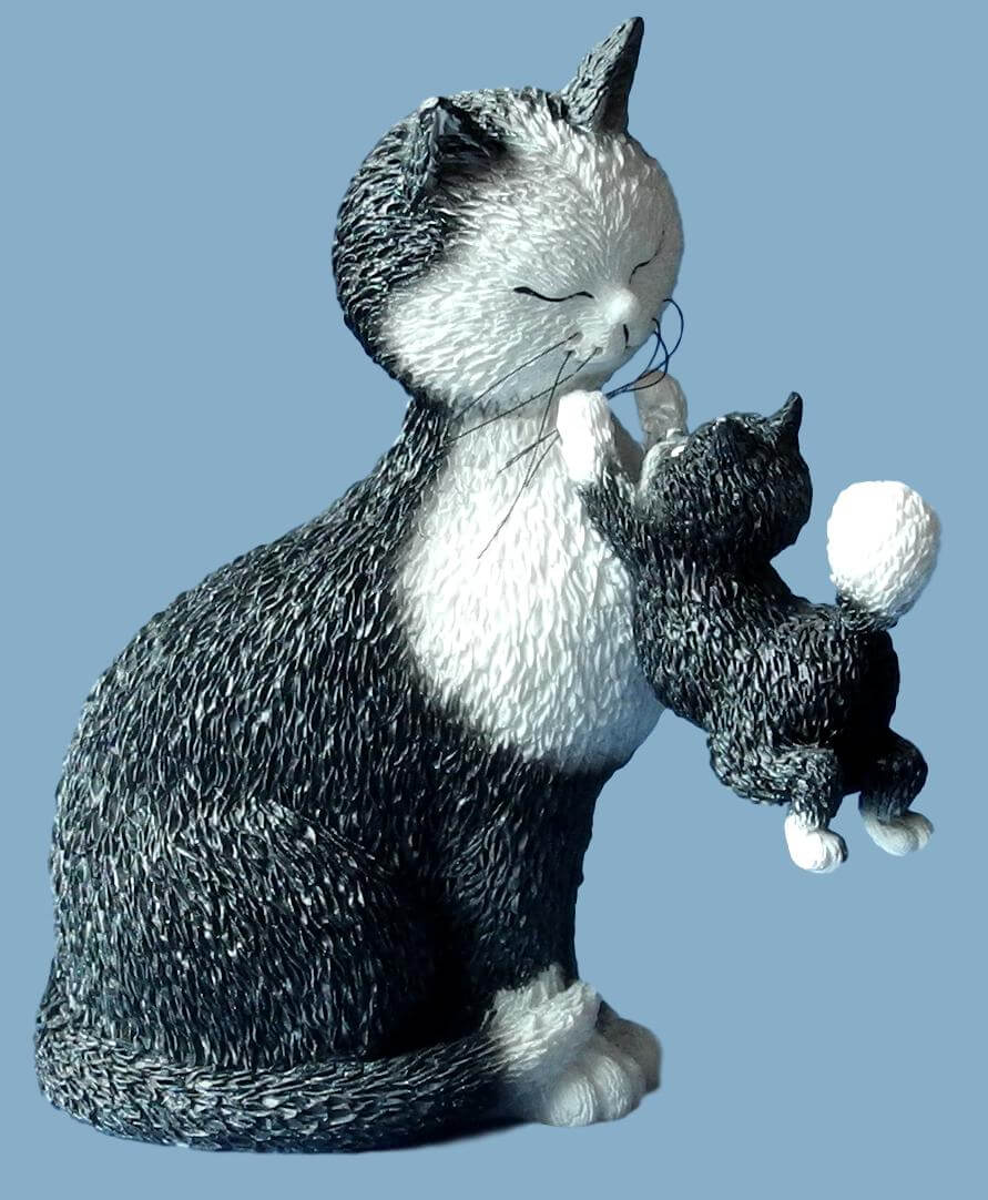 Dubout - Happy Days Cat Figurine