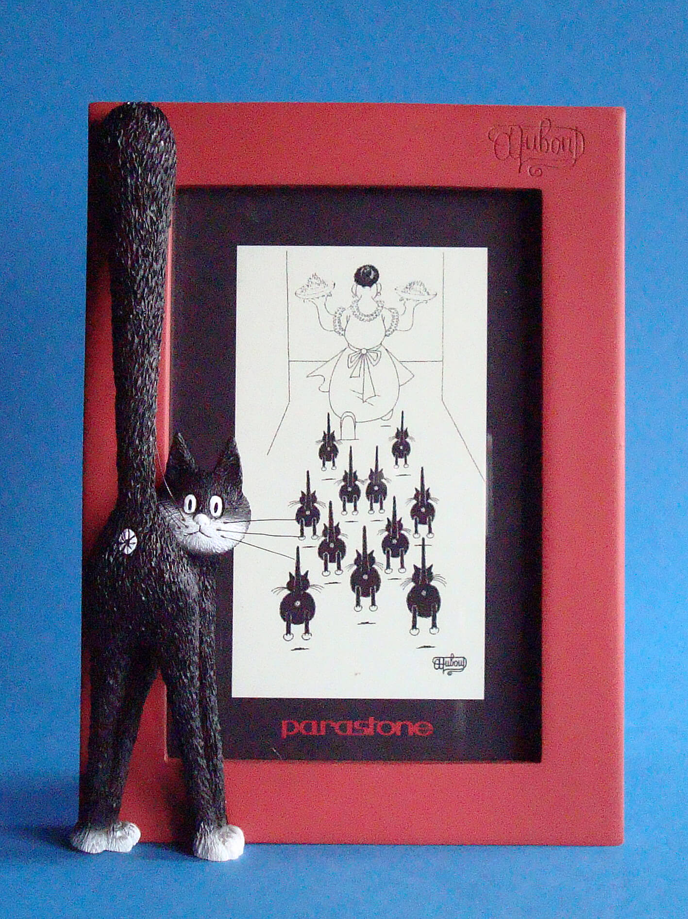 Dubout Cats The Third Eye Cat Picture Frame (Red Frame)