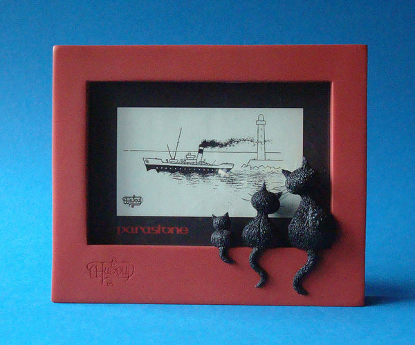 Dubout Cats - Threesome Picture Frame (Red Frame)