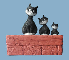 Dubout Cats - Threesome Cat Figurine