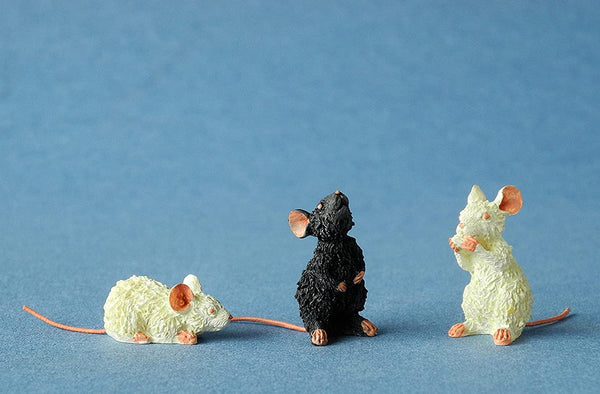 Dubout Cats - 3 Mice (Escape Plan Cat Figurine Extra Pack)