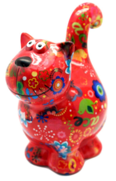 "Red Ceramic Pomme Pidou ""Dorothy"" Cat Money Box"