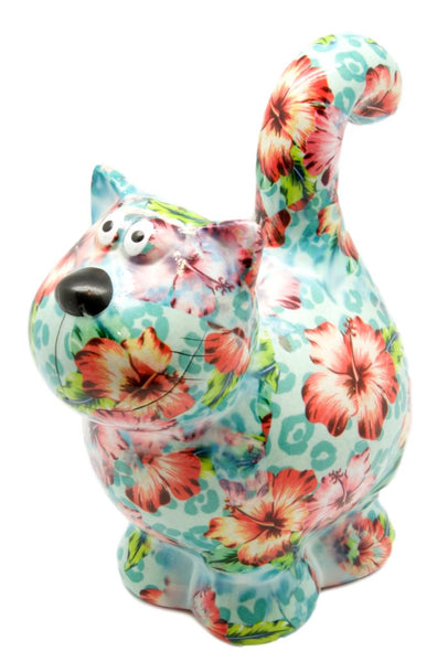 "Tropical Ceramic Pomme Pidou ""Dorothy"" Cat Money Box"