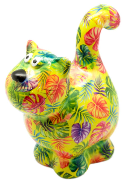 "Yellow Ceramic Pomme Pidou ""Dorothy"" Cat Money Box"