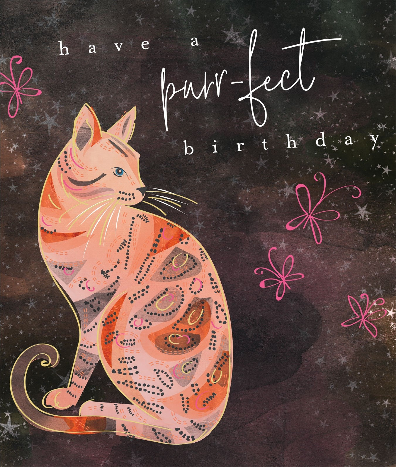 Purrfect Bengal Cat Birthday Card